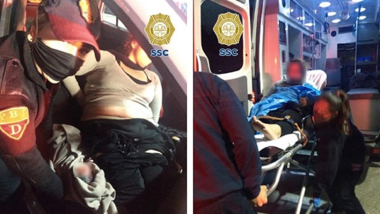 policías ayudan mujer dar a luz auto CDMX