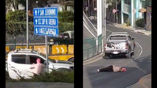 El video registró el momento en el que una mujer fue atropellada tras un accidente de tránsito en las calles de la CDMX