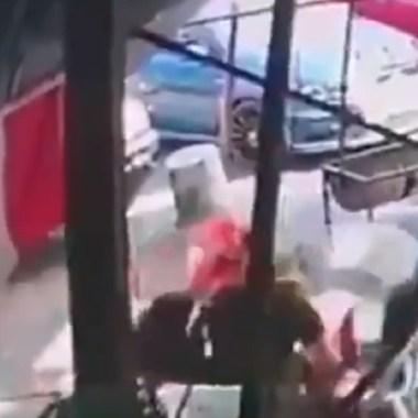 video sujeto abre fuego comensales Tlalpan CDMX