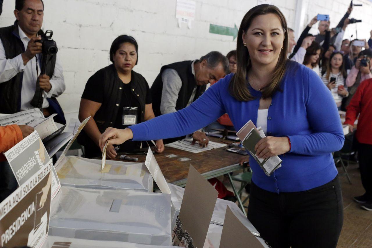 Martha Érika Alonso, gobernadora de Puebla fallecida