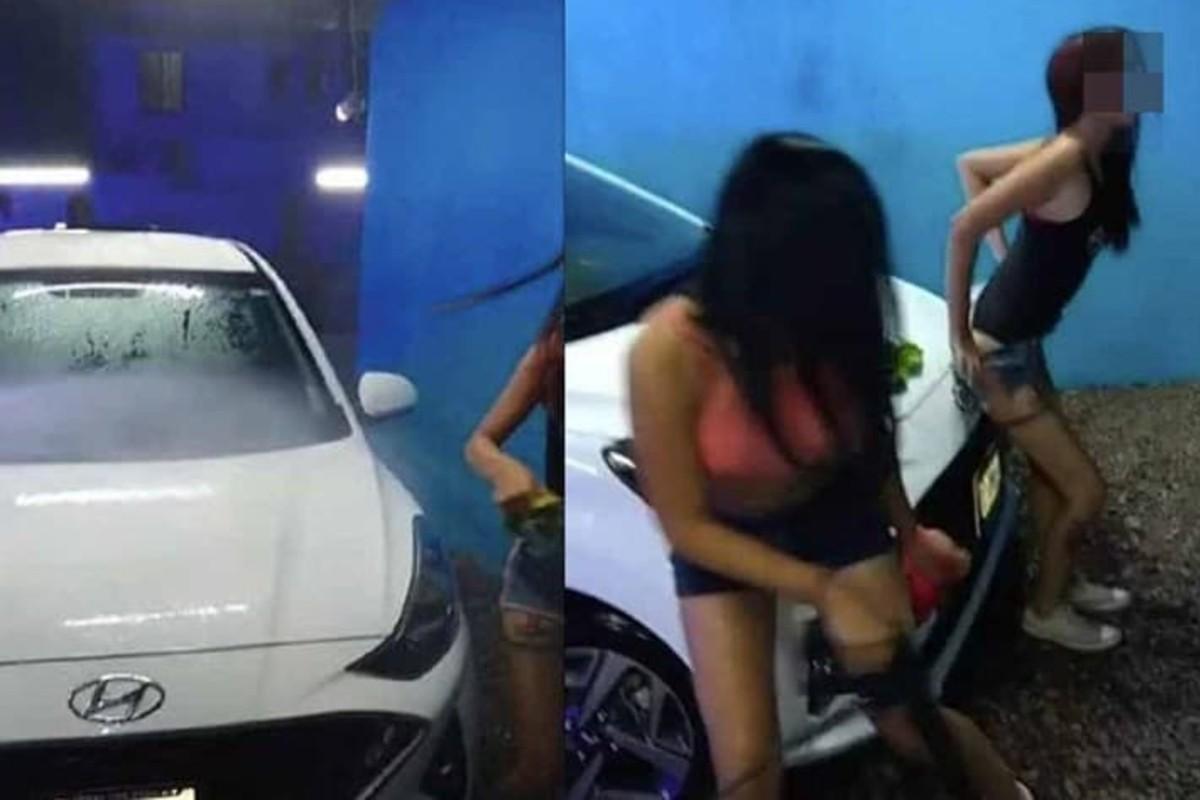 Sonora: autolavado usa mujeres semidesnudas para promocionarse