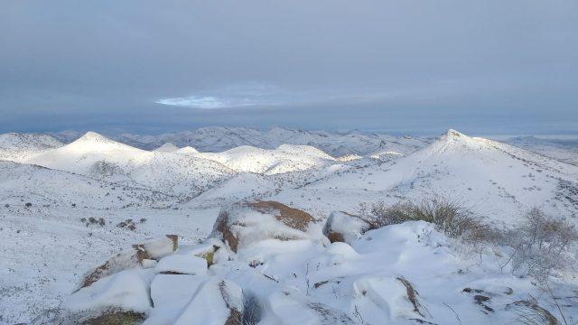 Fotos de la nevada en Chihuahua