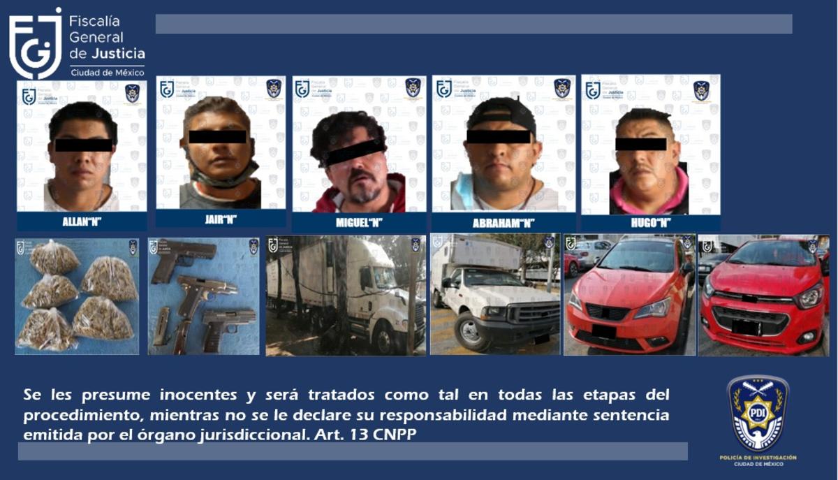 Autoridades recuperan camión robado con medicinas; hay 5 detenidos