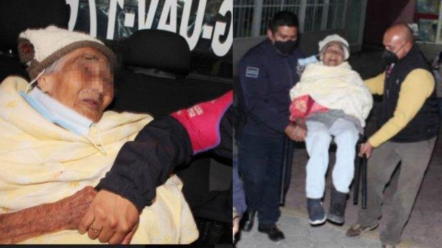 Doña Maura es una abuelita de 90 años que fue echada a la calle por sus familiares en Ecatepec, Estados de México