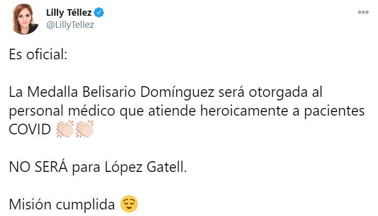 Lilly Tellez Hugo López Gatell Medalla Belisario Domínguez