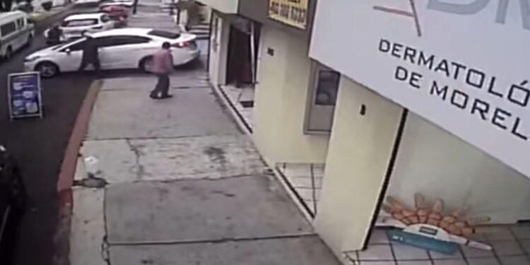 video conductor atropella asaltantes Morelia Michoacán