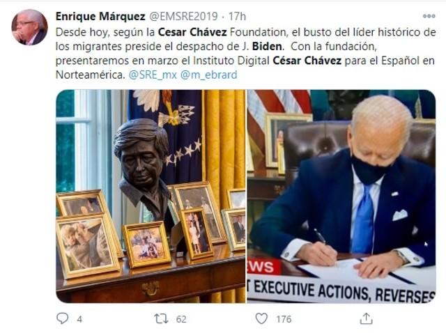 Busto César Chávez Despacho Oval