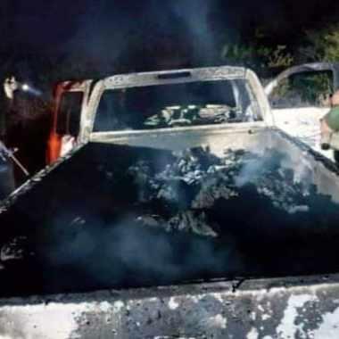 Cuerpos calcinados recuperados por la Fiscalía de Tamaulipas