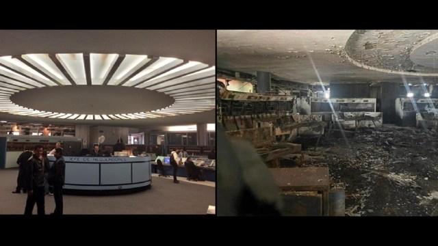 fotos Centro Control 1 Metro tras incendio
