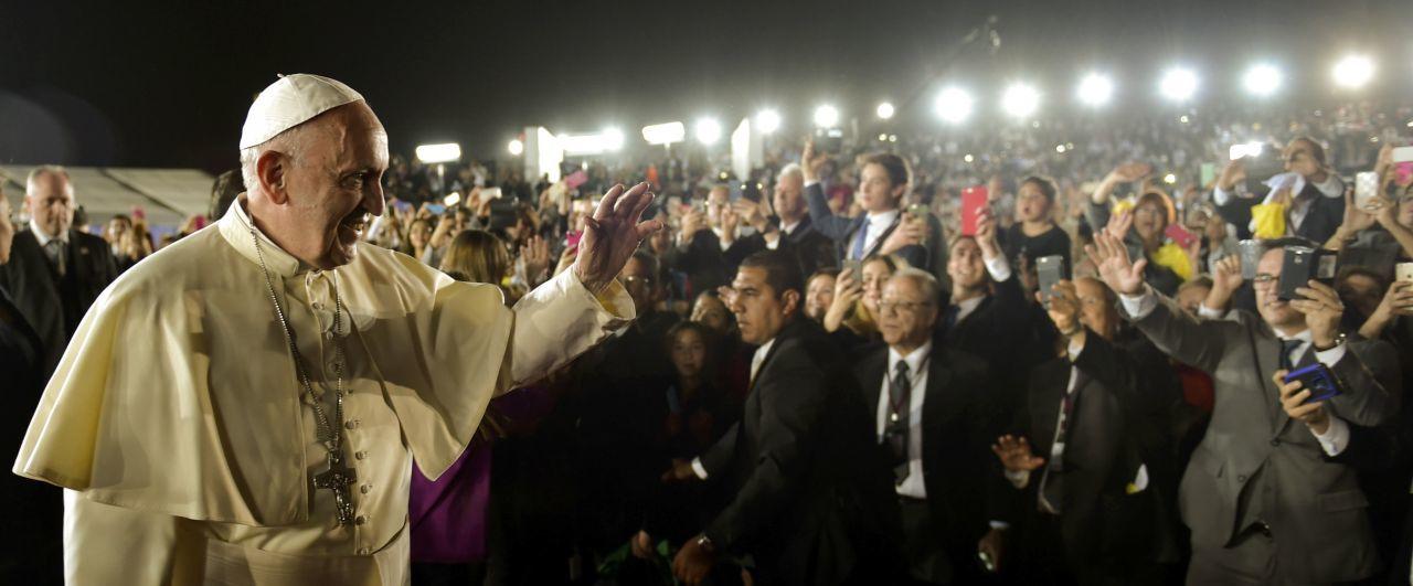 El Papa Francisco en su visita a México en 2016