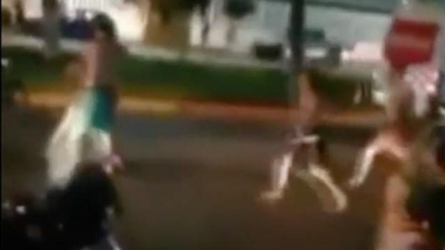 Familia protagoniza pelea campal en las playas de Acapulco