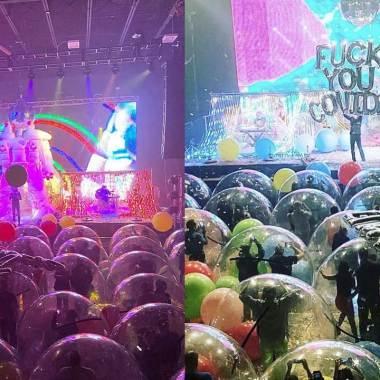 Los Flaming Lips nos muestran como es un concierto en la nueva normalidad: todos dentro de burbujas por el COVID-19