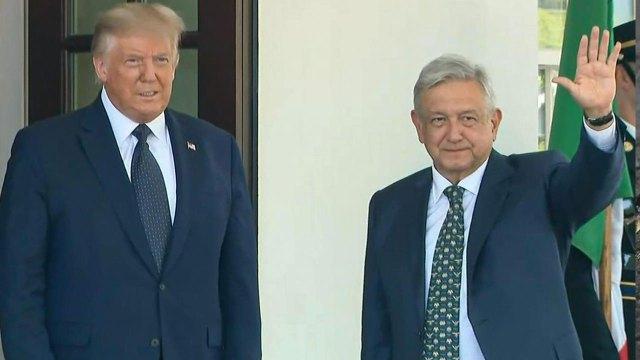 En una visita al muro fronterizo, Donald Trump, el aún presidente de los Estados Unidos se deshizo en elogios hacia AMLO