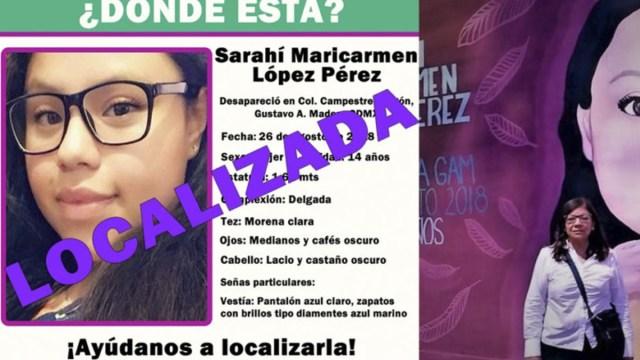 Encuentran con vida a Sarahí López, llevaba más de dos años desaparecida
