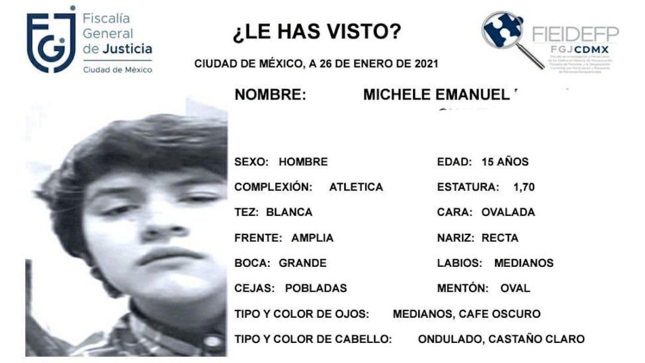Desaparece Michele, de CCH Sur; reportan que estaba amenazado