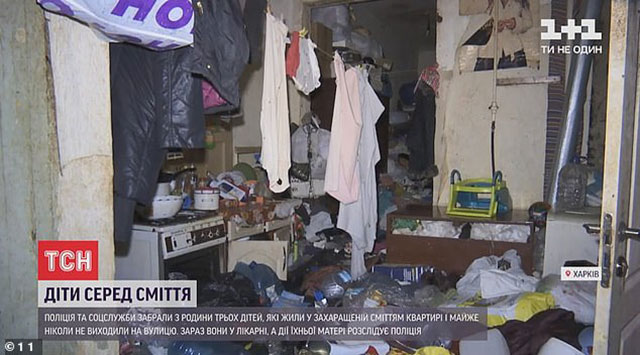 En Ucrania, una madre daba de comer carne de perro a sus dos hijos. Además, vivían en condiciones insalubres: entre basura y cucarachas