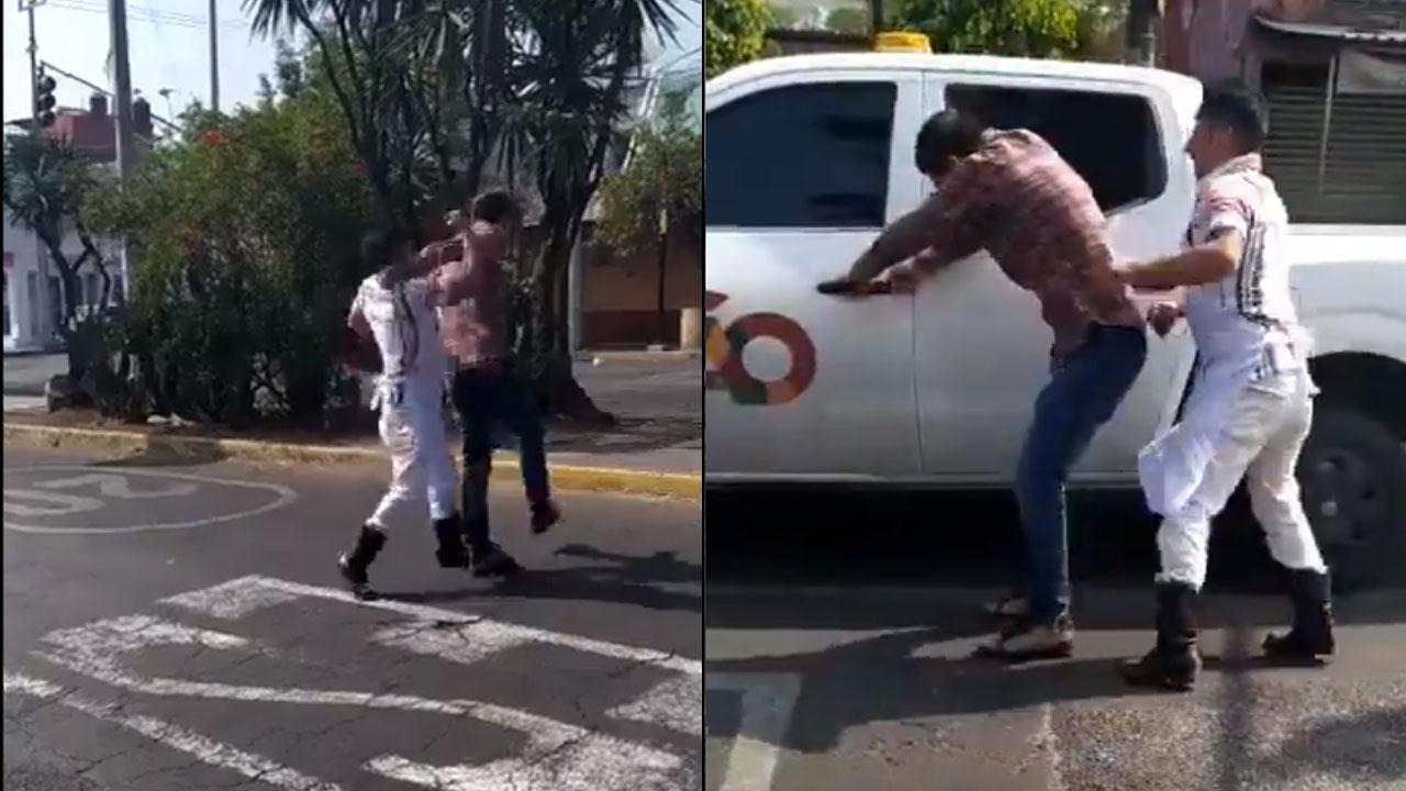 Un video muestra como un comerciante golpea a un presunto funcionario extorsionador en la alcaldía Álvaro Obregón, CDMX