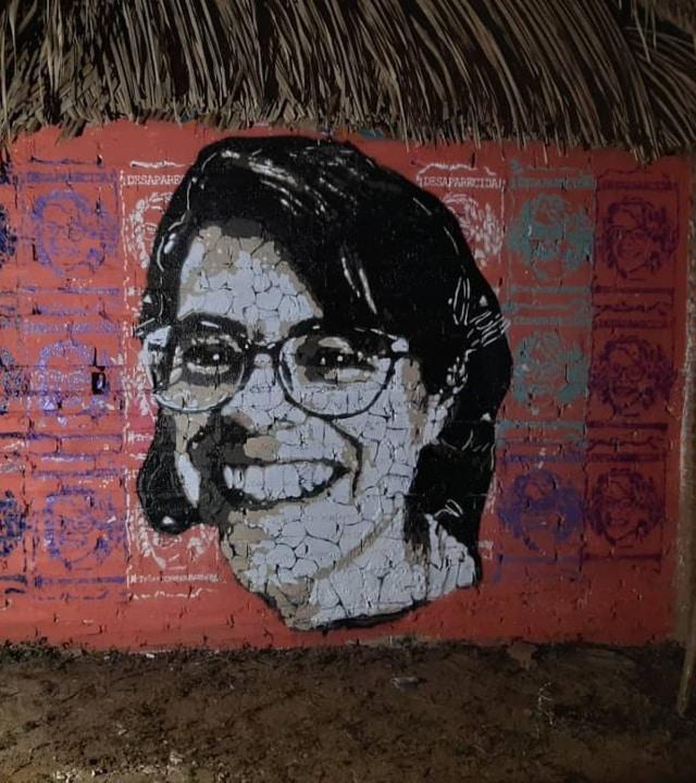 Mural para buscar a Wendy Sánchez