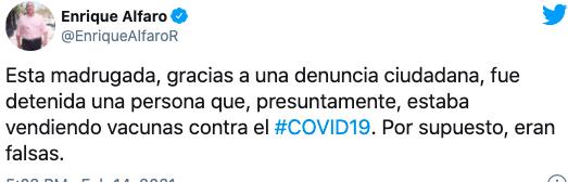 Jalisco: detienen a enfermero que ofrecía a la venta vacunas contra Covid-19