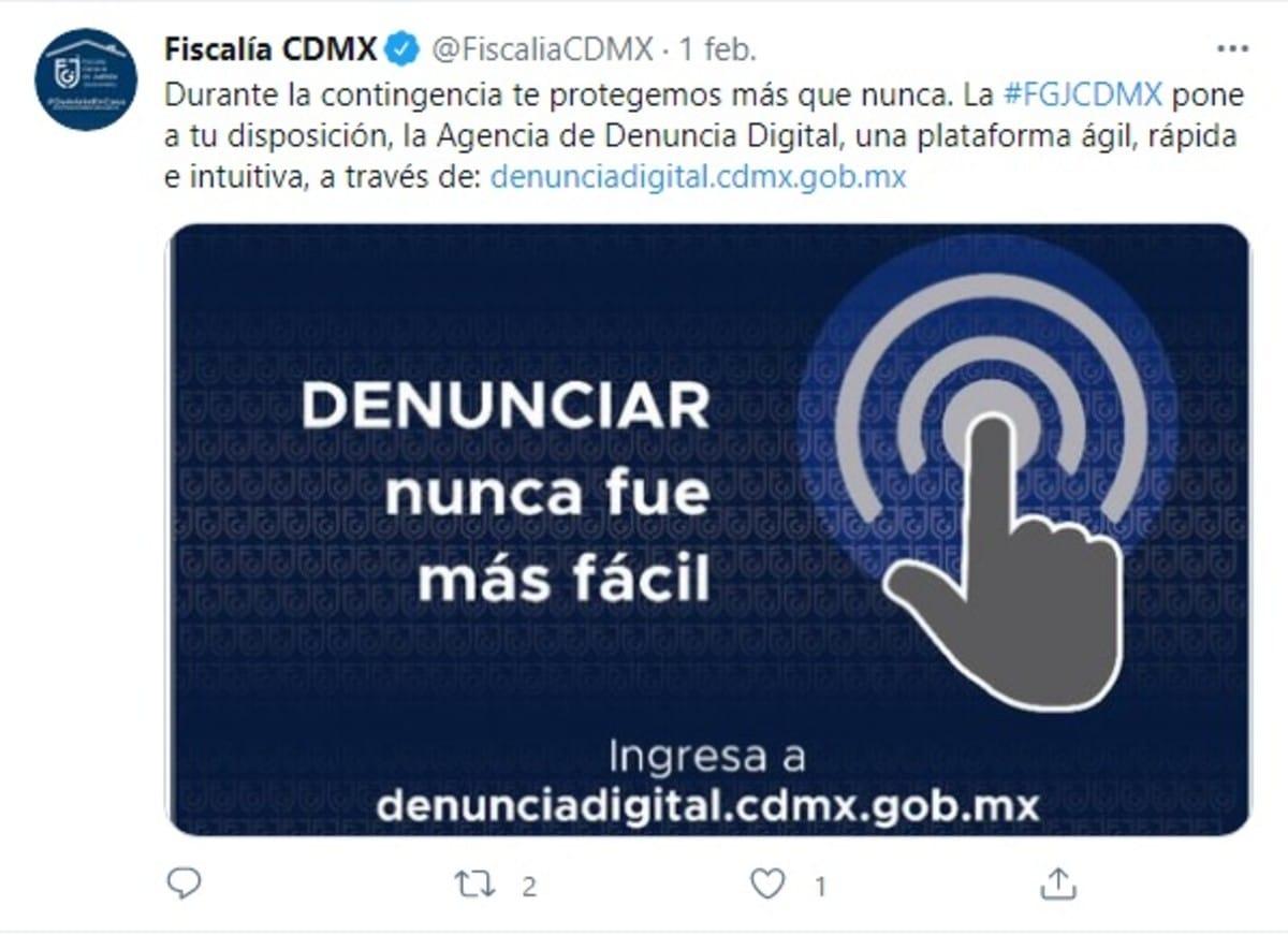 Denuncia digital FGJ CDMX