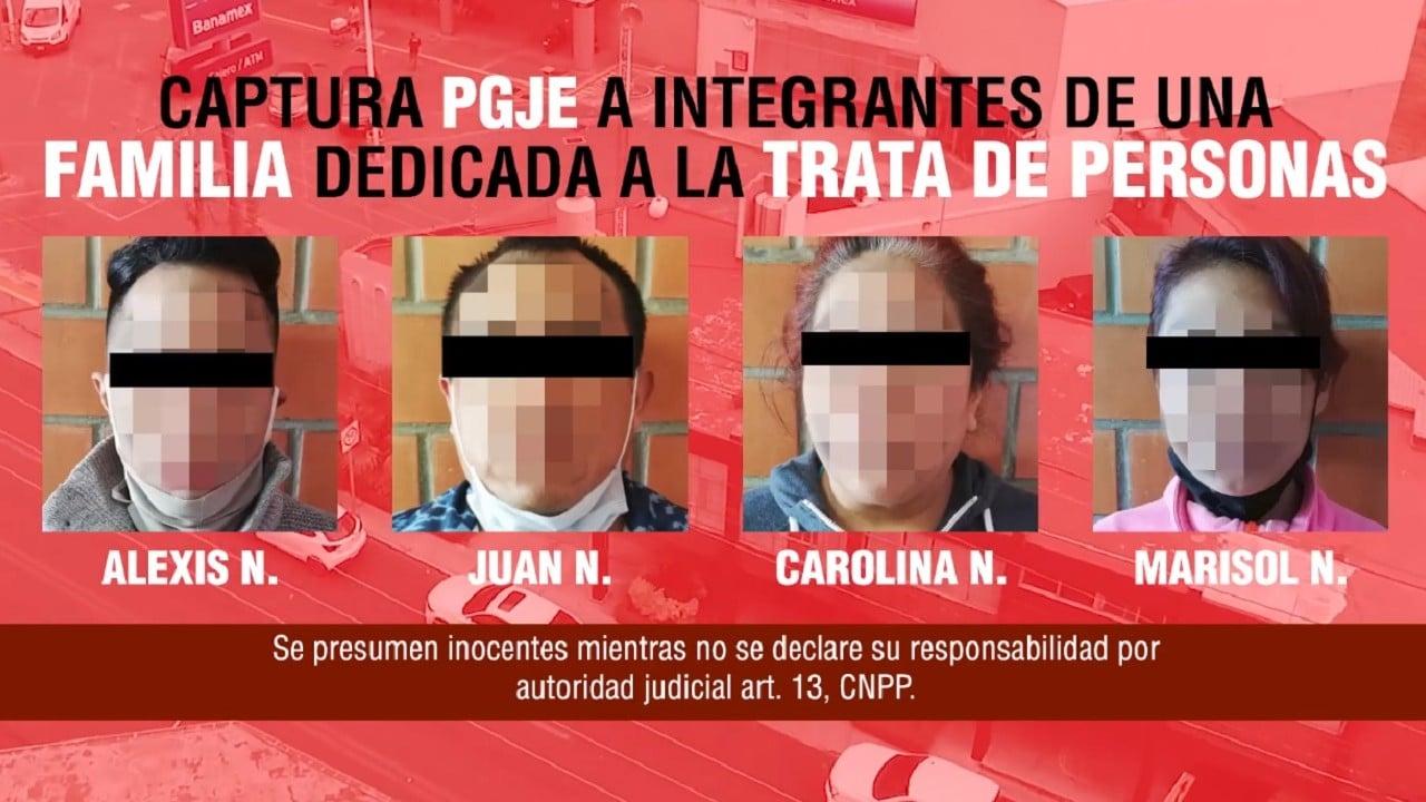 Familia detenida trata de personas Tlaxcala
