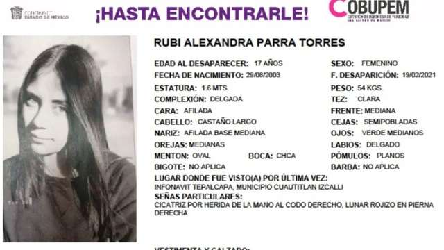 Rubí vendía chocolates camiones Cuautitlán Izcalli desaparecida