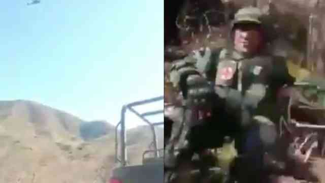 Aeronave de la Fuerza Aérea Mexicana dispara contra del CJNG [Video]