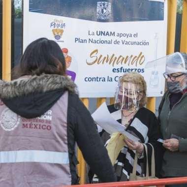 UNAM presta sus instalaciones para la aplicación de la vacuna Covid