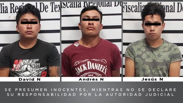 Tres jóvenes de entre 19 y 21 años presuntamente secuestraron a menor de 3 años
