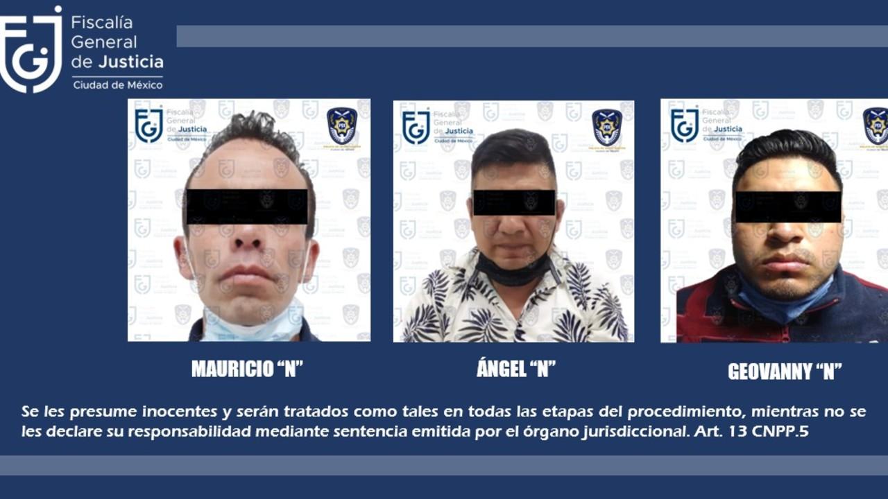 tres sujetos detenidos presunto abuso sexual dos abusaron menores de edad CDMX