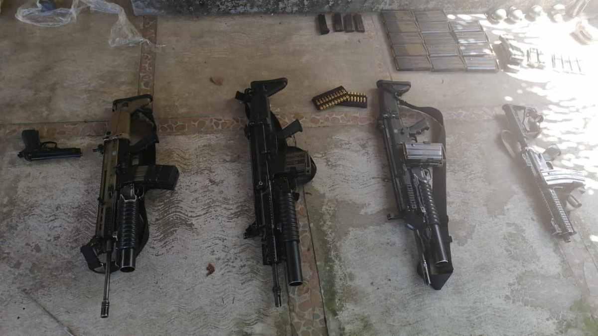Armas decomisadas en detención del M3