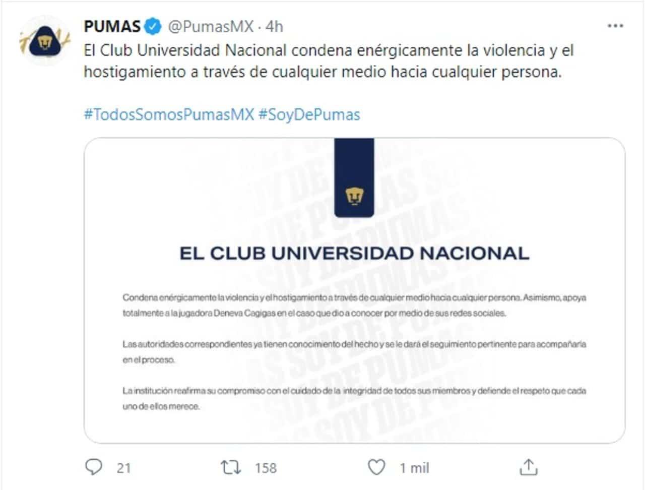 futbolista Deneva Cagigas denuncia acoso sexual redes sociales