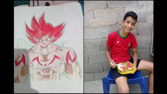 niño vende dibujos Twitter comprar comida su familia