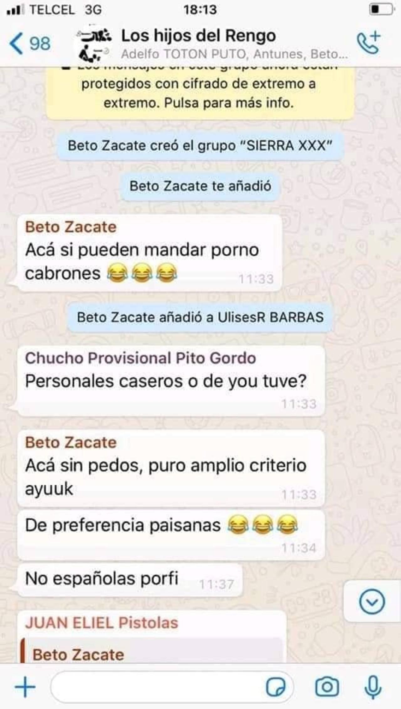 Beto Santos de Morena crea grupo para difundir pornografía