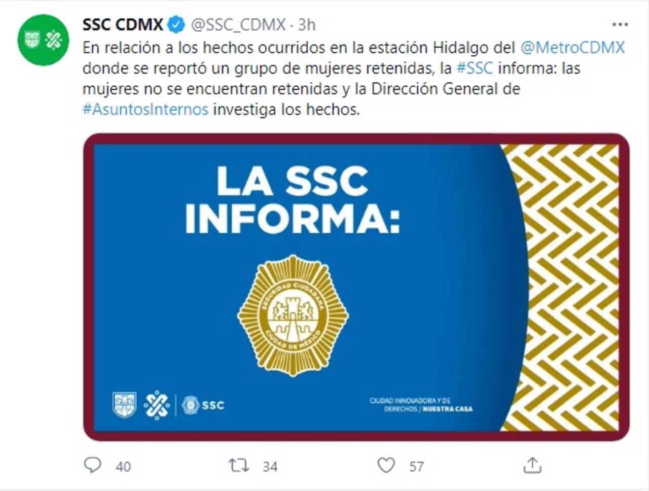 SSC CDMX investiga agresiones periodistas metro Hidalgo