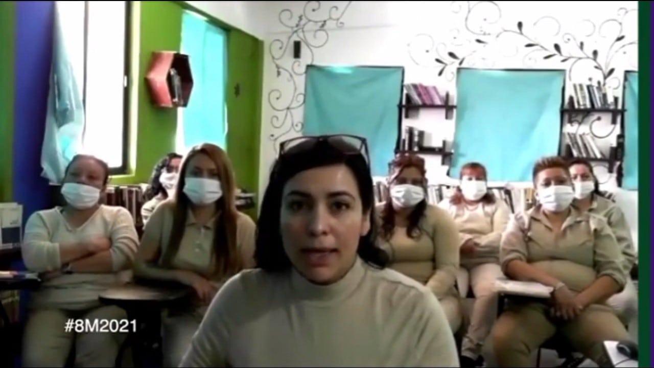 video mujeres en reclusión mensaje 8M