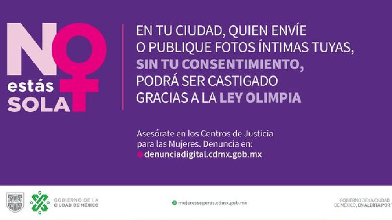 La violencia digital en la Ciudad de México se castiga con la Ley Olimpia