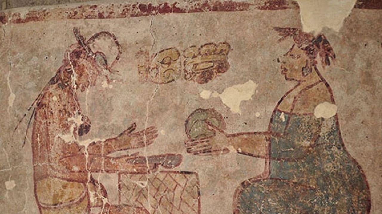 Mural revela mayas usando sal como dinero