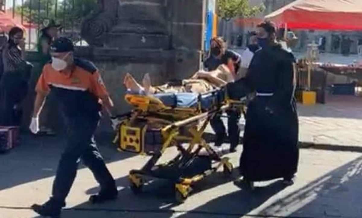 El fraile fue trasladado al hospital