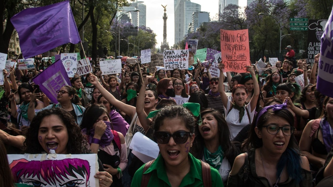CDMX Mujeres Protesta Virtual 8M Feminicidios