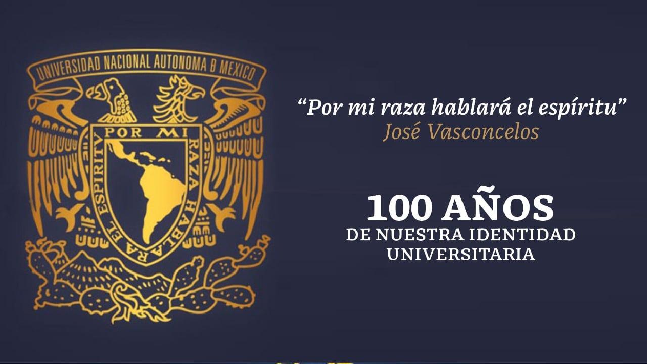 Logo y escudo de la UNAM cumplen 100 años