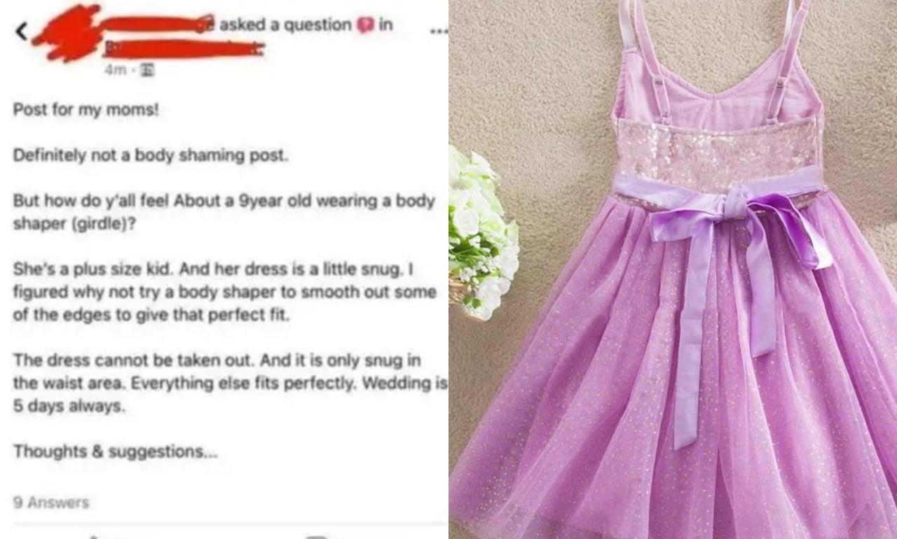 mujer ´pide a niña de 9 años que use faja