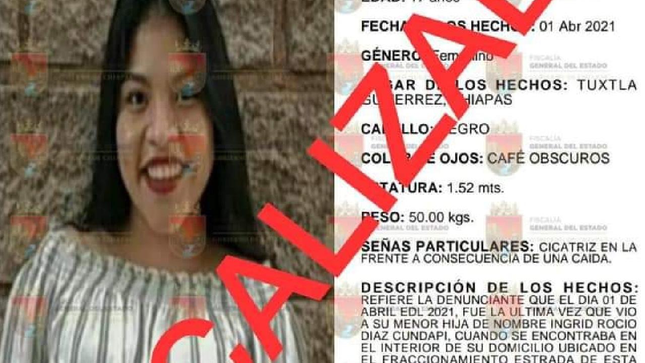 Encontraron con vida a Rocío Cundapi, victima de abuso sexual