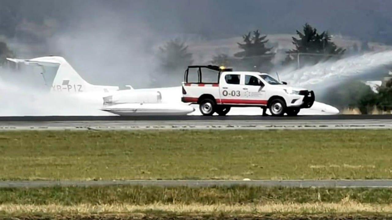Accidente Aeropuerto Toluca Aterrizaje de emergencia Video