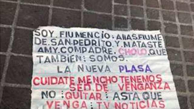 Narcomanta Amenazan El Mencho CJNG La Nueva Plaza