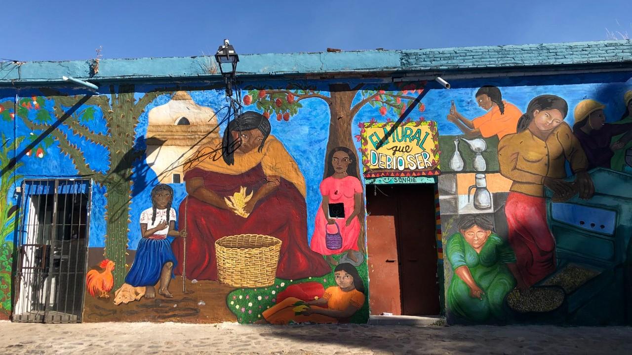 Mujeres recrean Pintura María Siqueiros Oaxaca