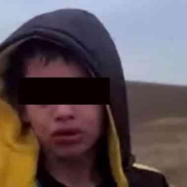 Niño abandonado Texas frontera