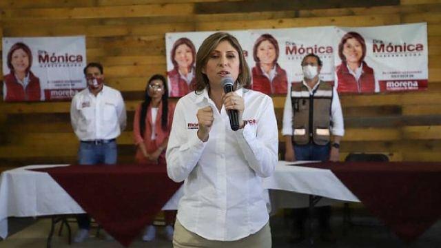 INE retira campaña de Monica Rangel de Morena