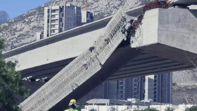 Cayó la viga de una construcción en Nuevo León