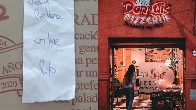 Cliente pizzería Don Luis ticket homofobia
